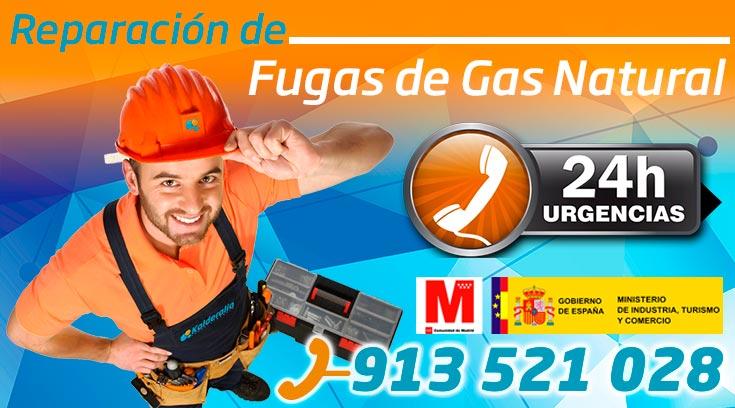 reparación de fugas de gas natural en Pozuelo de Alarcón