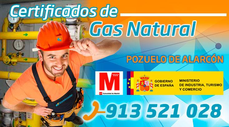 Certificado de gas natural en Pozuelo de Alarcón