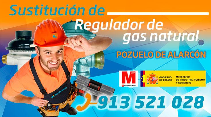 Sustitución regulador de gas natural en Pozuelo de Alarcón